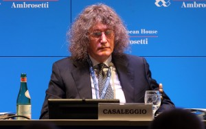 """Founder of """"Movimento 5 Stelle"""", Gianroberto Casaleggio, in Villa d'Este of Cernobbio, Northern Italy, 08 September 2013 during a forum organized by the European House-Ambrosetti. According to the Ambrosetti website, world leaders in politics, business and other fields meet annually at the forum to discuss issues of global importance. ANSA/MATTEO BAZZI"""